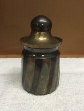 Vintage Brass Trinket Jar/Canister With Lid