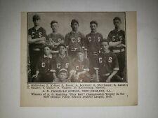 A.D. Crossman School New Orleans Louisiana Baseball 1913 Team Picture