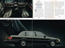 1990 LINCOLN Brochure / Pamphlet : CONTINENTAL / MARK 7 VII, LSC / TOWN CAR