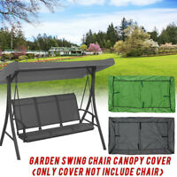 3 Seater Garden Swing Chair Seat Canopy Cover Waterproof Bench Patio Outdoo