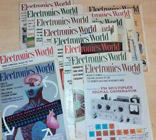 Lot of 10+ Vintage Electronics World Magazines 1960's (damaged)