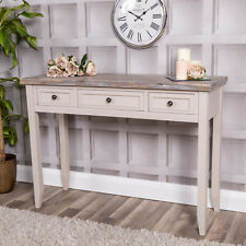 Wooden Console Dressing Table 3 Drawers Shabby Vintage Chic Furniture Home Decor