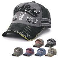 Vintage Baseball Cap Men Women Adjustable Denim Distressed Trucker Hat Unisex AU