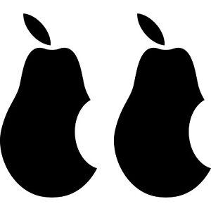 2 Aufkleber 10cm schwarz Birne Apple verarsche Tablet Laptop Auto 4061963039144