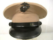 Vietnam USMC NCO Enlistedman Visor Service Cap Hat w/EGA Device Sz 7  Dated 1963