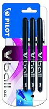 Pilot VBall 5 Rollerball Pen-Black Ink (Pack of 3) 0.5mm