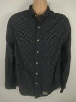 MENS SUPERDRY NAVY BLUE LONG SLEEVED SHIRT TOP BUTTON UP SIZE XL EXTRA LARGE