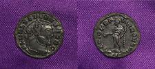 Severus II AE 1/4 Follis 305-306 AD Siscia, Genius rx. OUTSTANDING Details! NICE