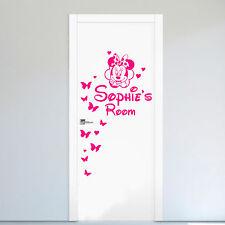 Nombre Personalizado De Minnie Mouse Puerta/Pared Arte Pegatina/Calcomanía Chicas/Dormitorio
