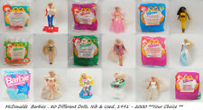 McDonald's BARBIE, 80 Different Dolls, NIB & Used,**Your Choice** 1991-2000,