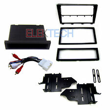 Radio Replacement Dash Mount Kit 1 & 2-DIN w/Pocket/Amp Harness for Lexus IS300