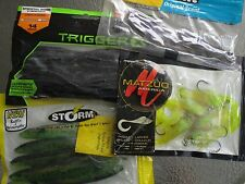 trigger, storm assorted fishing luers 4 packs all new never opened