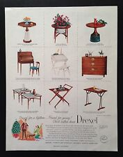 1957 Drexel furniture 9 styles original vintage print ad