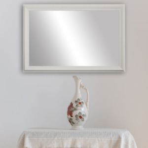 Framed Wall Mirror - Black, White, Espresso/Brown, Nickel