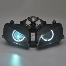 Angel Eyes HID Projector Lamp Headlight Assembly For Honda CBR600RR 03-06 White