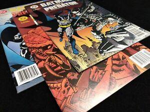 BATMAN VERSUS PREDATOR 1,2,3 ALL NEWSTAND! COMPLETE DC MINI SERIES SET LOT