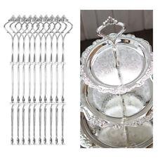 10 x Metallstange Mittellochausstech 3 Etagere Tortenständer Set Hochzeitstorte