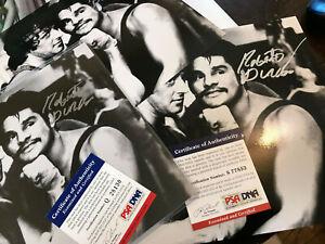 Roberto Duran Signed 8x10 autograph PSA/DNA COA auto uppercut Sylvester Stallone