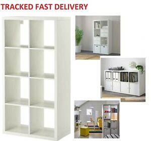 IKEA KALLAX White, 8 Shelving Unit Display 8 cube, Storage, Bookcase, shelf rack