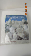 American School of Needlework SNOW VILLAGE Pattern Book & Plastic canvas