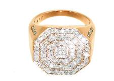 1.45ctw Diamond set in 10K Rose Gold Gent's Ring