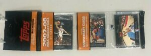 2007-08 TOPPS BASKETBALL FACTORY SEALED RACK PACK KEVIN DURANT ROOKIE RC ON BACK