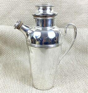 Original Art Deco Cocktail Shaker Jug Antique Silver Plated WILLIAM SUCKLING