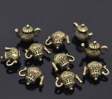 30 Bronze Tone Teapot Charm Pendants 16x12mm For Fashion Necklace & Bracelet Diy