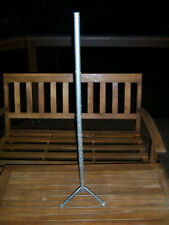 """Htf Nice 34.5"""" Wood Tree Pole Stand For Vtg Aluminum Xmas Trees Parts Only"""