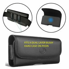 For Samsung Galaxy S10+ plus XL leather belt clip phone case pouch loop holster