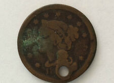 18xx Braided Hair Liberty Head Large One Cent Great Type U. S. Coin A3052