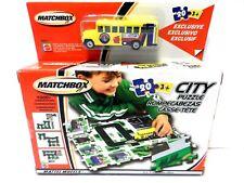 Matchbox City Puzzle Playset  School Bus New in Box Mattel Wheels