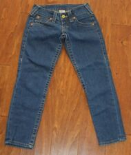 True Religion womans thick stitch crop capri Jeans Size 24