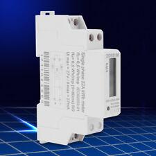 5-32A Contador Energía Medidor De Electricidad Digital LCD Carril Din KWH 220V