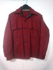 Vintage WOOLRICH Wool MACKINAW cruiser hunting JACKET Shirt men's L/M Red Black