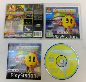 MS PAC-MAN MAZE MADNESS BLACK LABEL GAME PLAYSTATION 1 PS1 PS2 PS3 COMPLETE GC