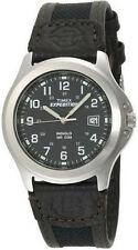 TIMEX MENS WATCH T40091 EXPEDITION METAL FIELD BLACK BROWN NYLON LEATHER NEW NIB
