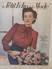 Le Petit Echo de la Mode N° 9  du 10/03/1940 Art Déco Journal Naissance