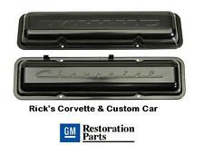 Chevrolet Script Valve Covers  PAINTED, Officially Licensed GM Restoration Parts