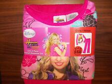 Hannah Montana Pink 2 Piece Pajama PJ  Flannel Girls Size 6 / 6X NWT  #95