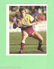 1993 SELECT RUGBY LEAGUE  STICKER - #24 WILLIE CARNE, BRISBANE BRONCOS