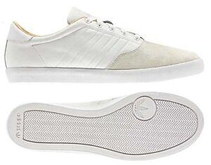 Adidas Originals Adi MC Lo BOYS White Leather & Suede UK 6 Trainers SALE !!!