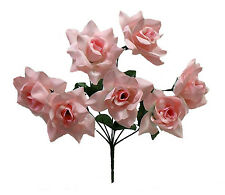 84 OPEN ROSES ~ LIGHT PINK ~ Soft Touch Silk Wedding Flowers Bouquets Bridal