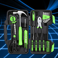 Green Portable Household Toolbox 39-Piece General Home Repair Hand Tool Package