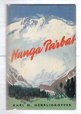 NANGA PARBAT 1954 KARL M. HERRLIGKOFFER 1st EDITION W/DJ ILLUSTRATED HIMALAYA