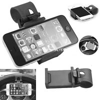 Car Steering Wheel Bike Clip Mount Holder Cradle Smart Cell Phone GPS Holders
