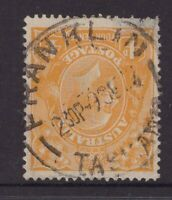 Tasmania nice  FRANKLIN postmark on 4d orange KGV