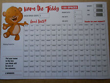 NAME THE TEDDY SCRATCH CARD A3 SIZE COLOURED/150 SPACES-3 CHANCES TO WIN= 1 CARD