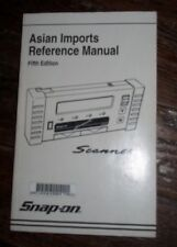 Snap On Asian Imports Reference Scanner Manual 5th Edition 1996 Book