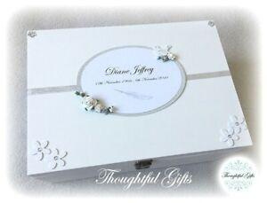 Large/ XL Wooden Personalised Memory Box Loss Loved One Bereavement MEMORIAL Box